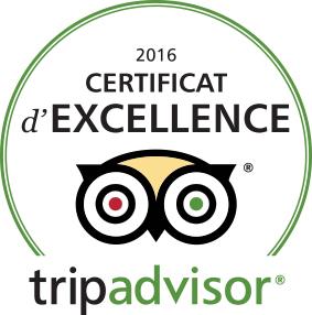 Certificat d'Excellence Tripadvisor